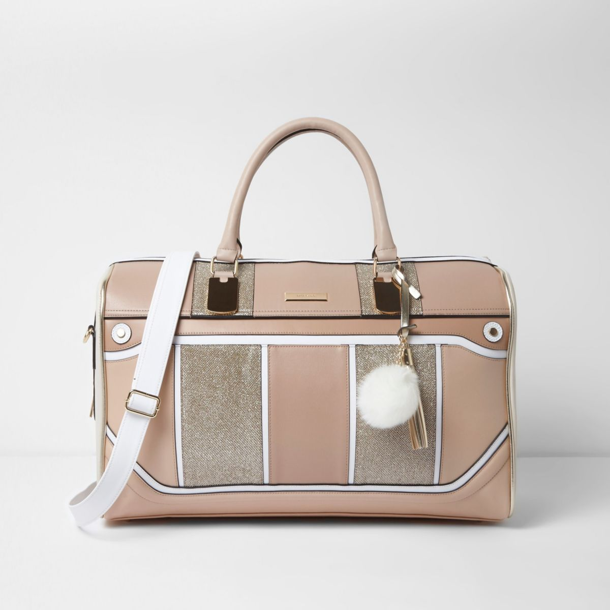 Beige Panel Cutabout Weekend Bag