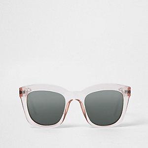 Beige plastic glam sunglasses