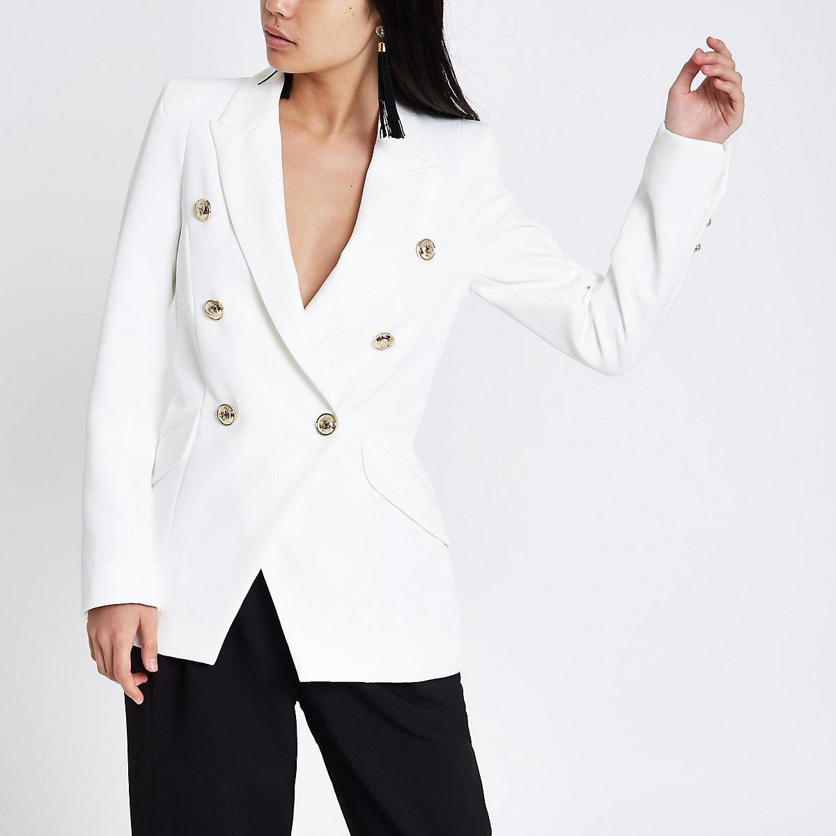 White double breasted tux jacket