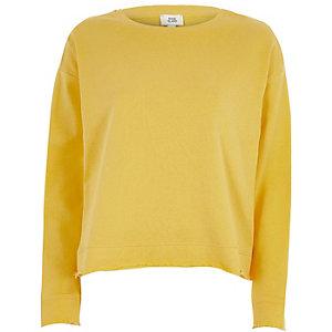 Geel sweatshirt met strik op de rug