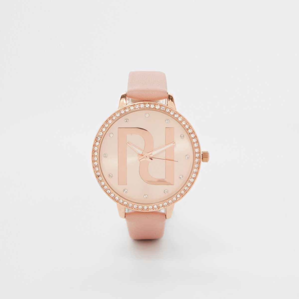 Rose gold tone RI branded watch
