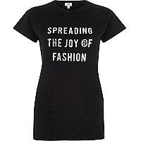T-shirt imprimé «spreading the joy» noir