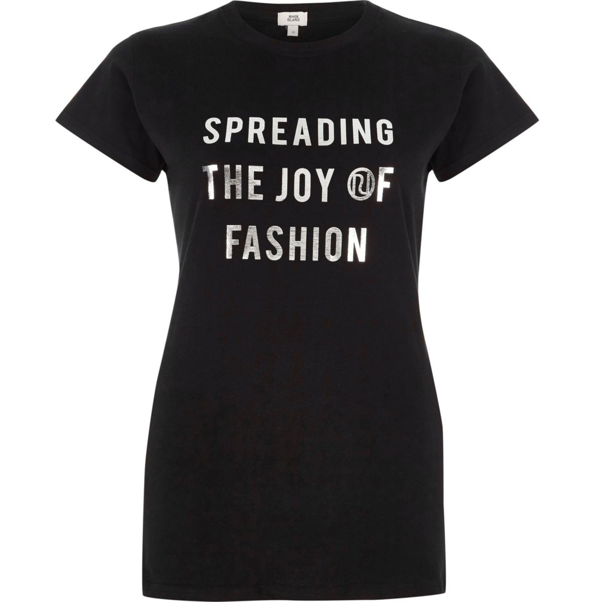 Schwarzes T-Shirt mit Spreading The Joy-Print