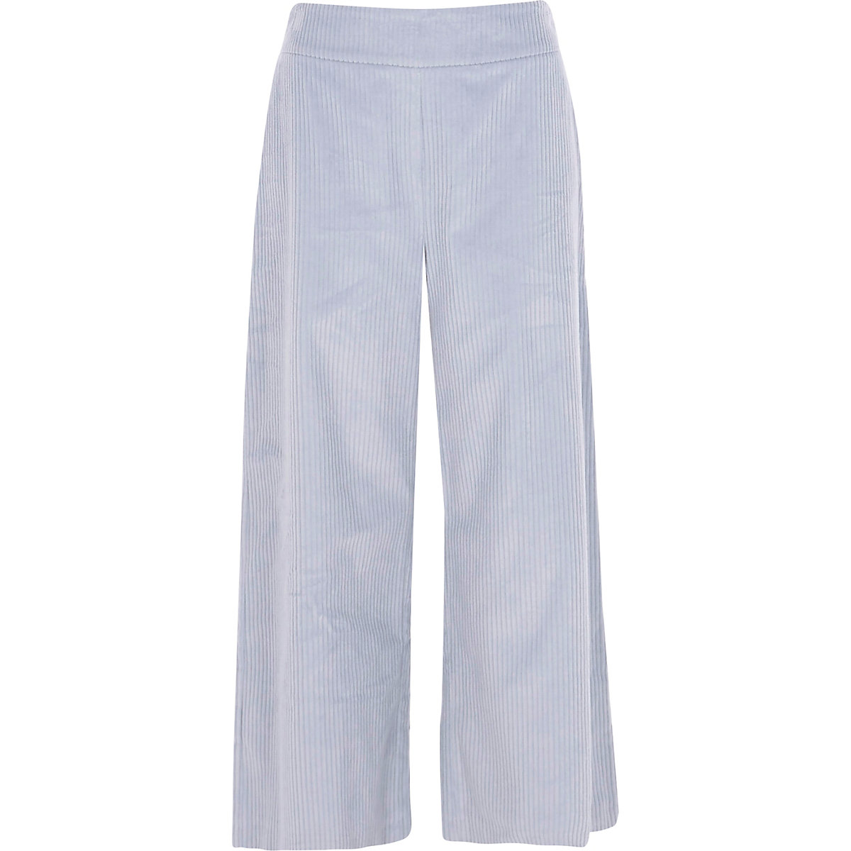 Light blue corduroy culottes