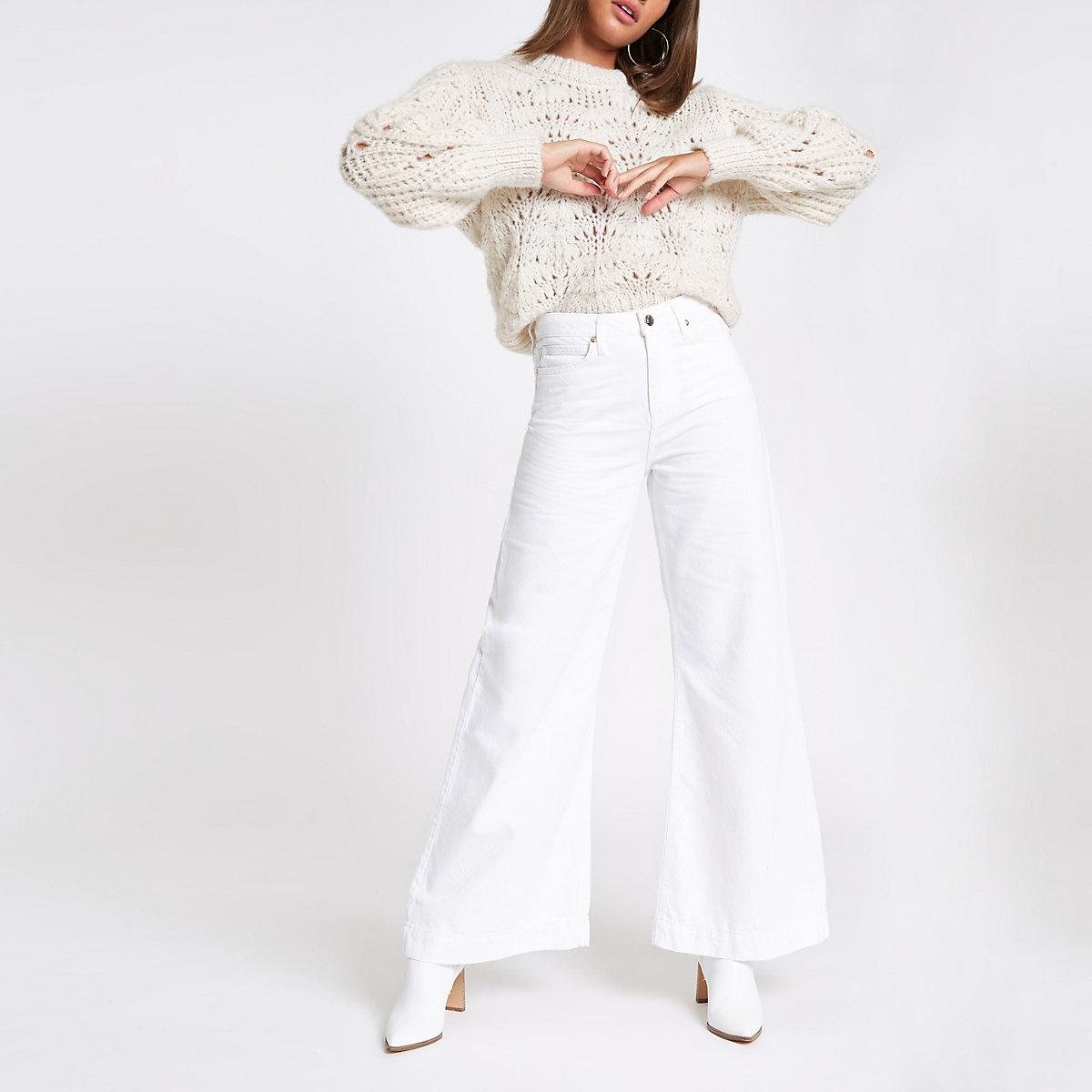 White Mila wide leg jeans