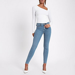 Molly – Jegging skinny bleu taille standard