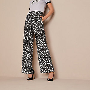 Black Holly Fulton floral wide leg pants