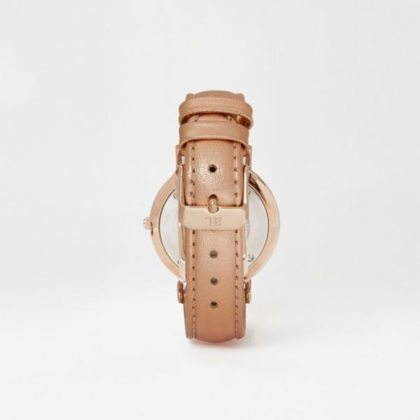River Island - Metallic rose gold leather Abbott Lyon watch - 3