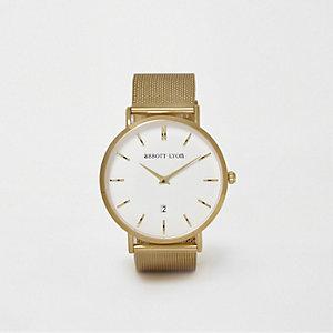Abbott Lyon - Verguld horloge met mesh