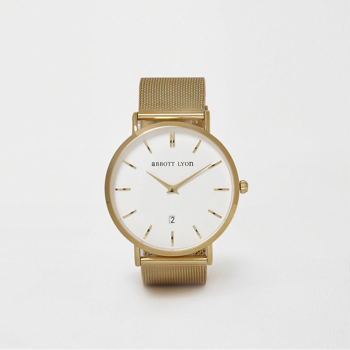 Abbott Lyon – Montre en maille plaquée or