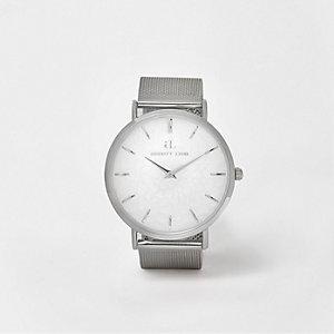 Abbott Lyon - Verzilverd horloge met bandje van mesh