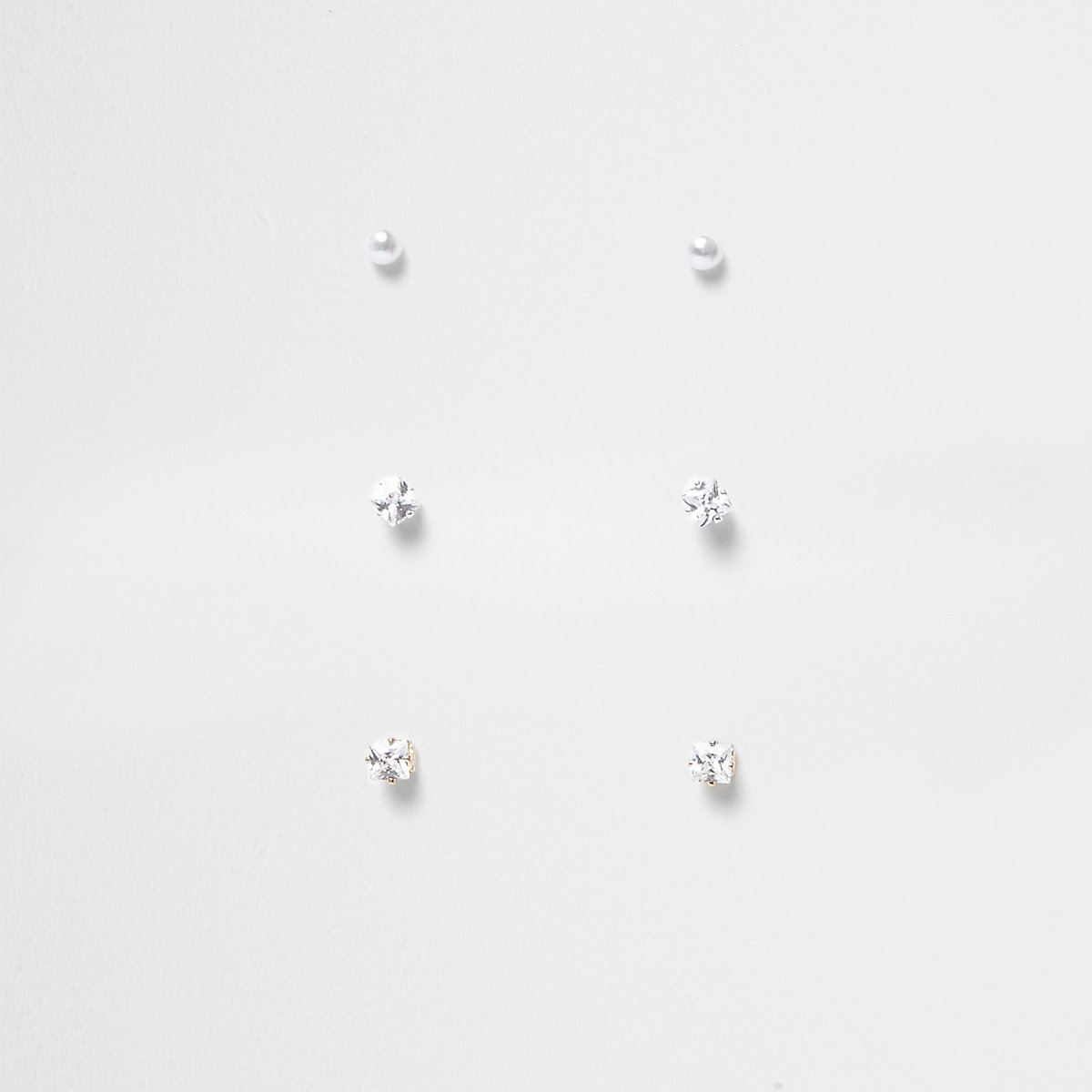 Gold tone diamante stud earrings