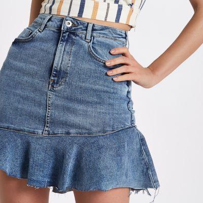 Denim Mini Skirt Pics