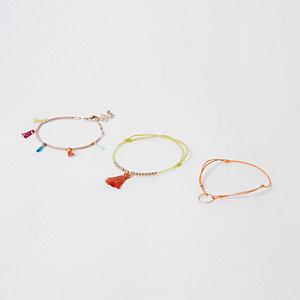 Orange Armbänder, Set