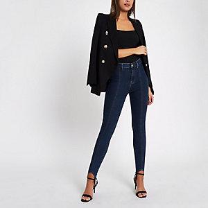 Harper – Mittelblaue Super Skinny Jeans
