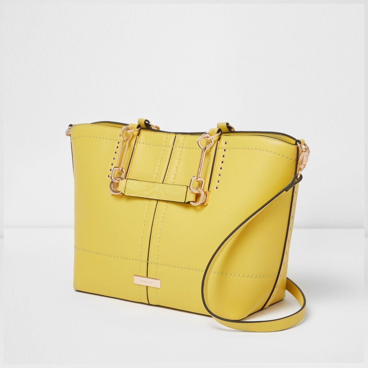 Yellow winged tote bag