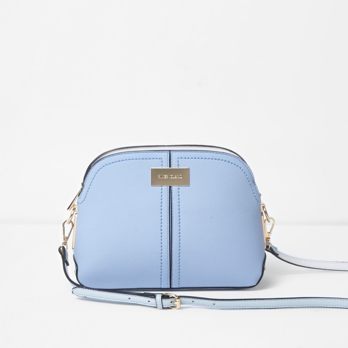 Light blue kettle cross body bag