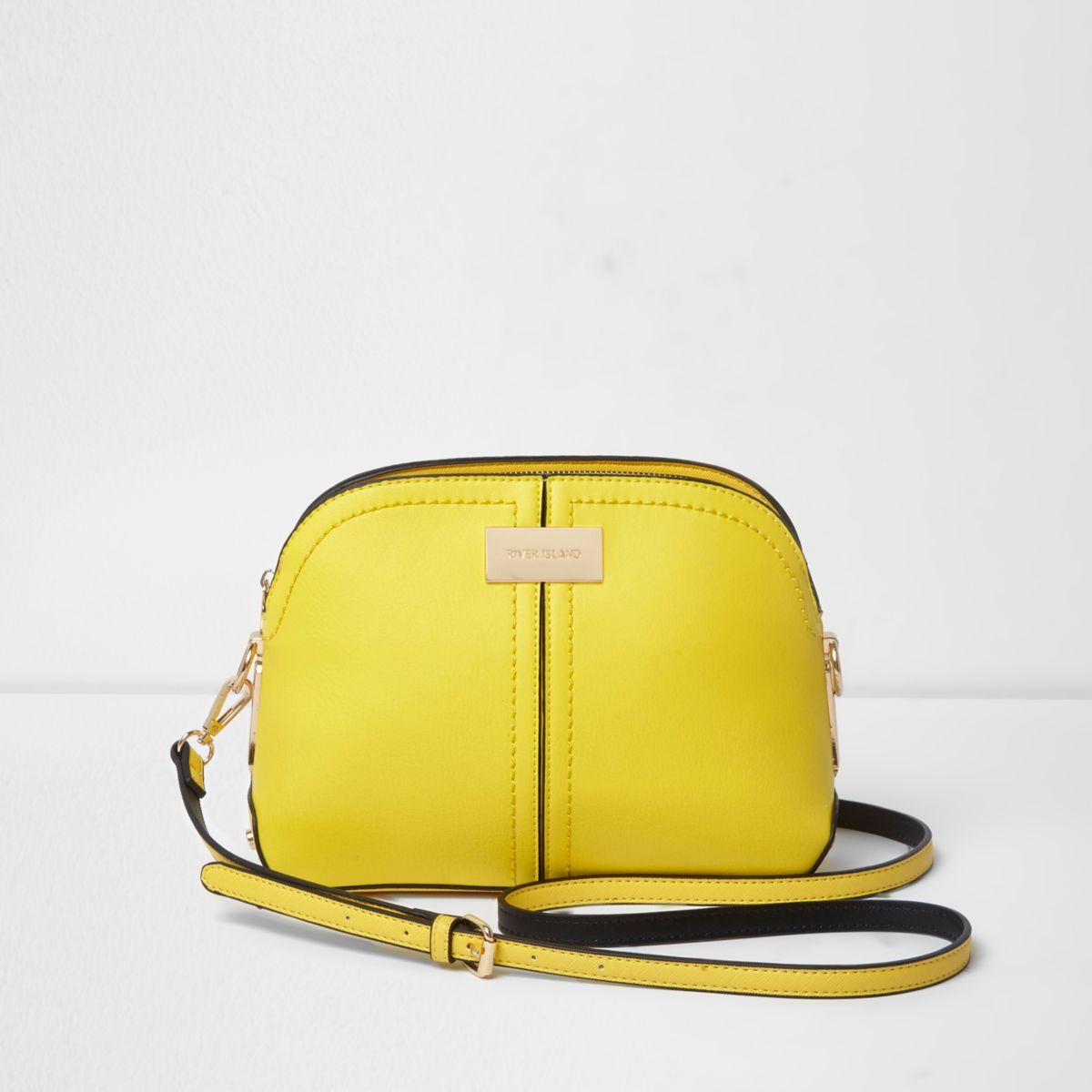 Yellow kettle shoulder bag