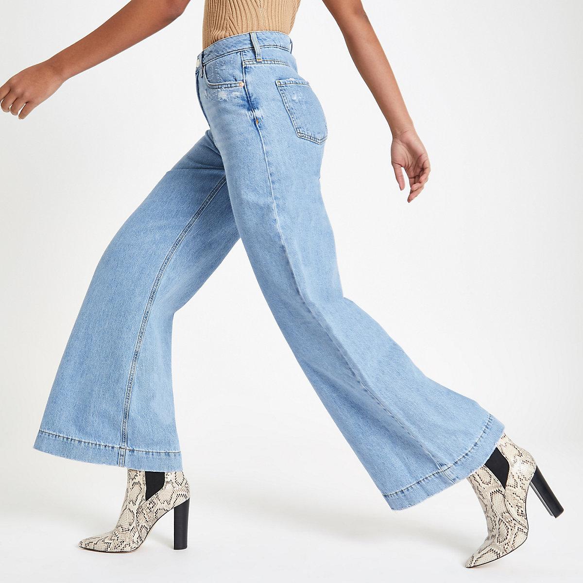 Light blue Mila wide leg denim jeans