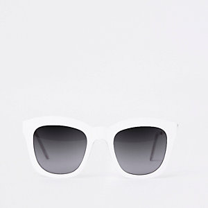 White oversized glam sunglasses