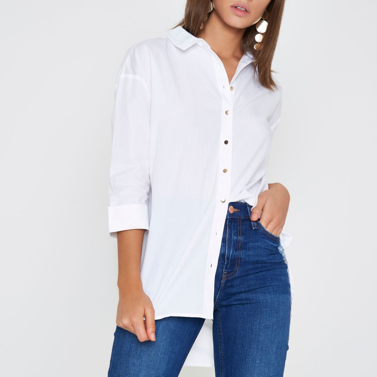White tie back shirt