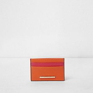 Orange travel card holder