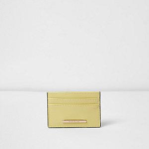 Porte-cartes de voyage jaune