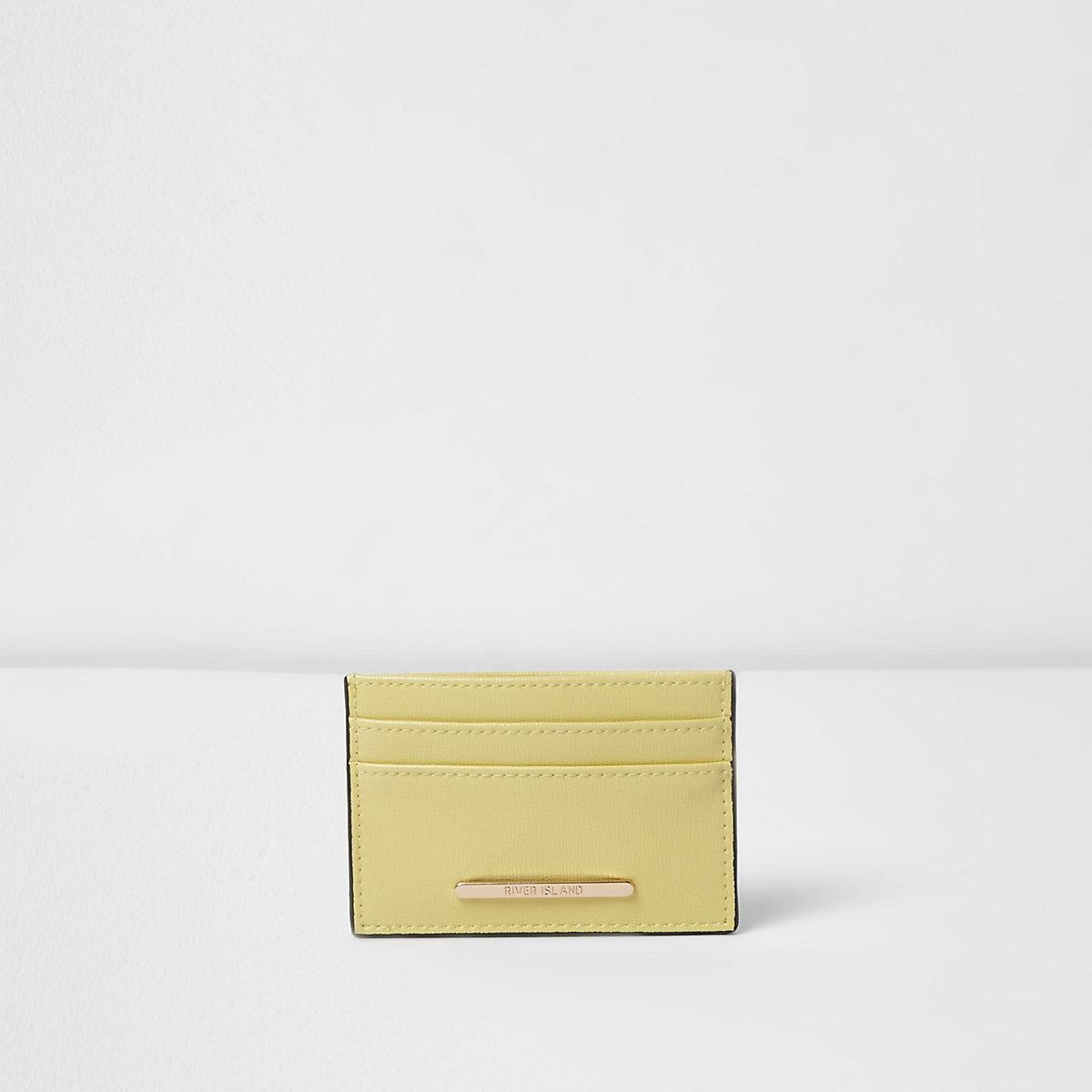 Yellow travel card holder