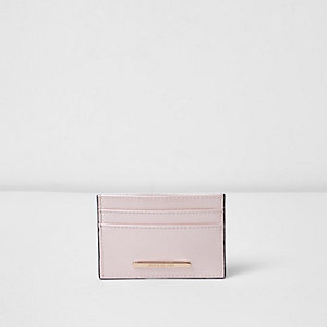 Light pink travel card holder