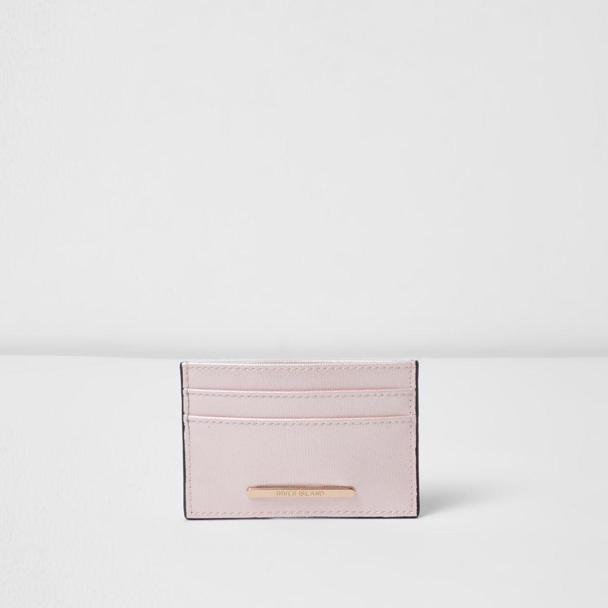 Light pink travel card holder
