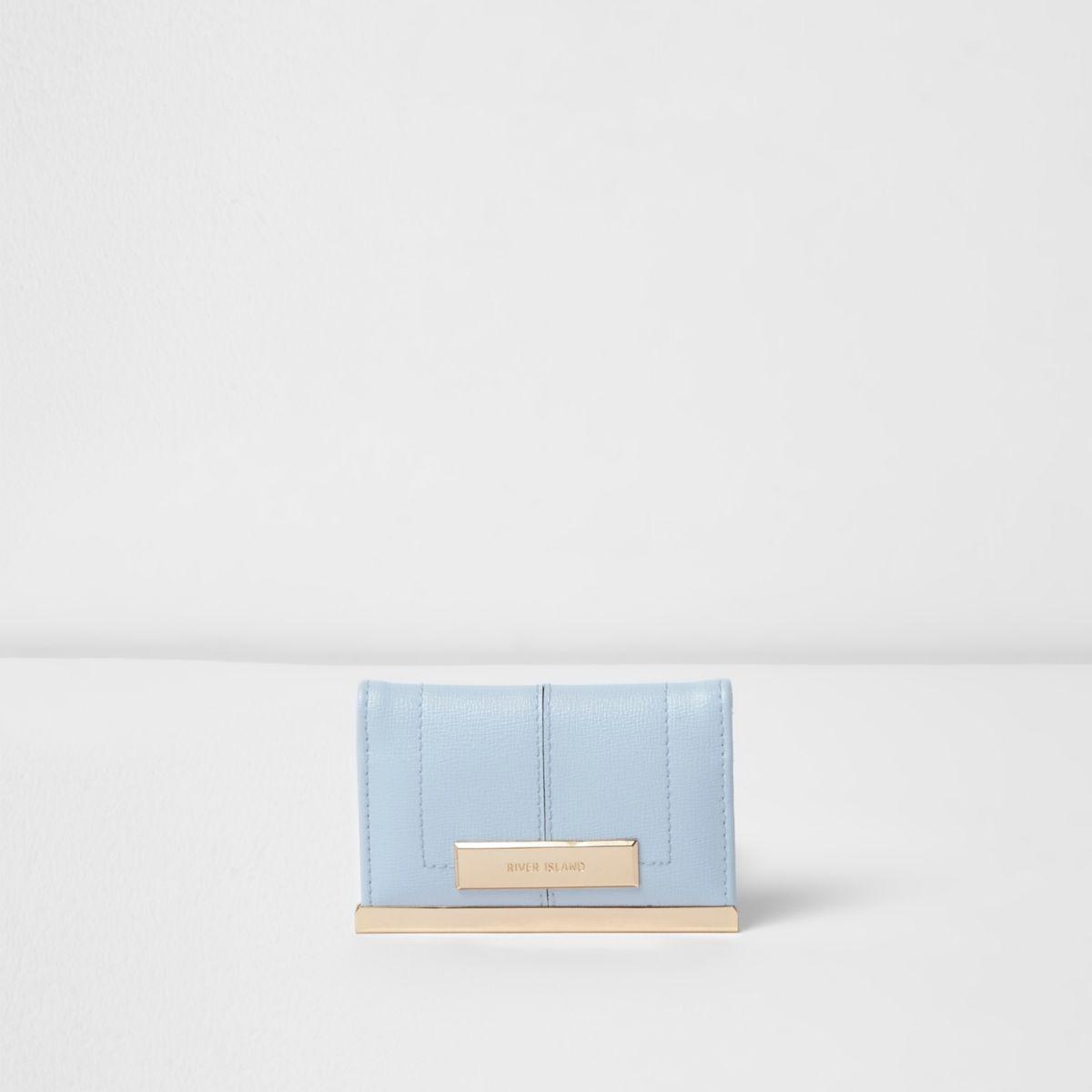 Light blue travel card holder
