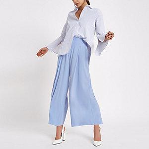Jupe-culotte bleu clair