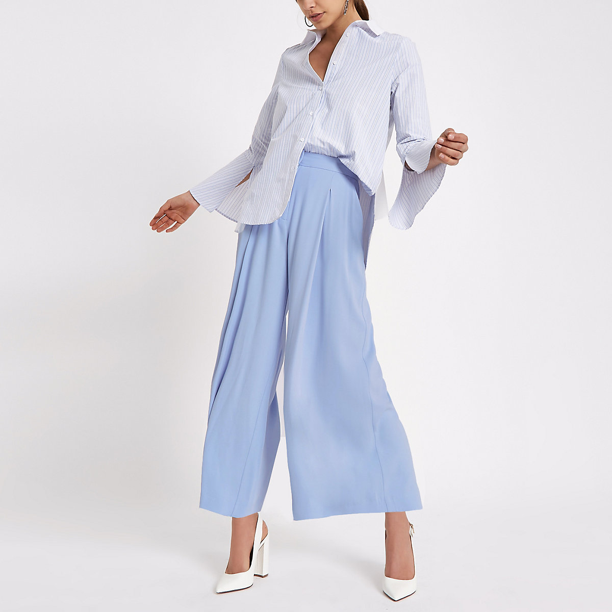 Light blue culottes