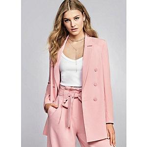 Roze double-breasted blazer