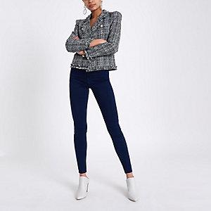 Harper – Jean bleu foncé taille haute