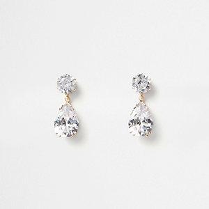 Pendants d'oreilles dorés ornés de bijoux