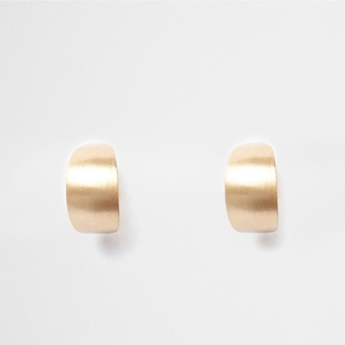 Gold tone mini cuff hoop earrings