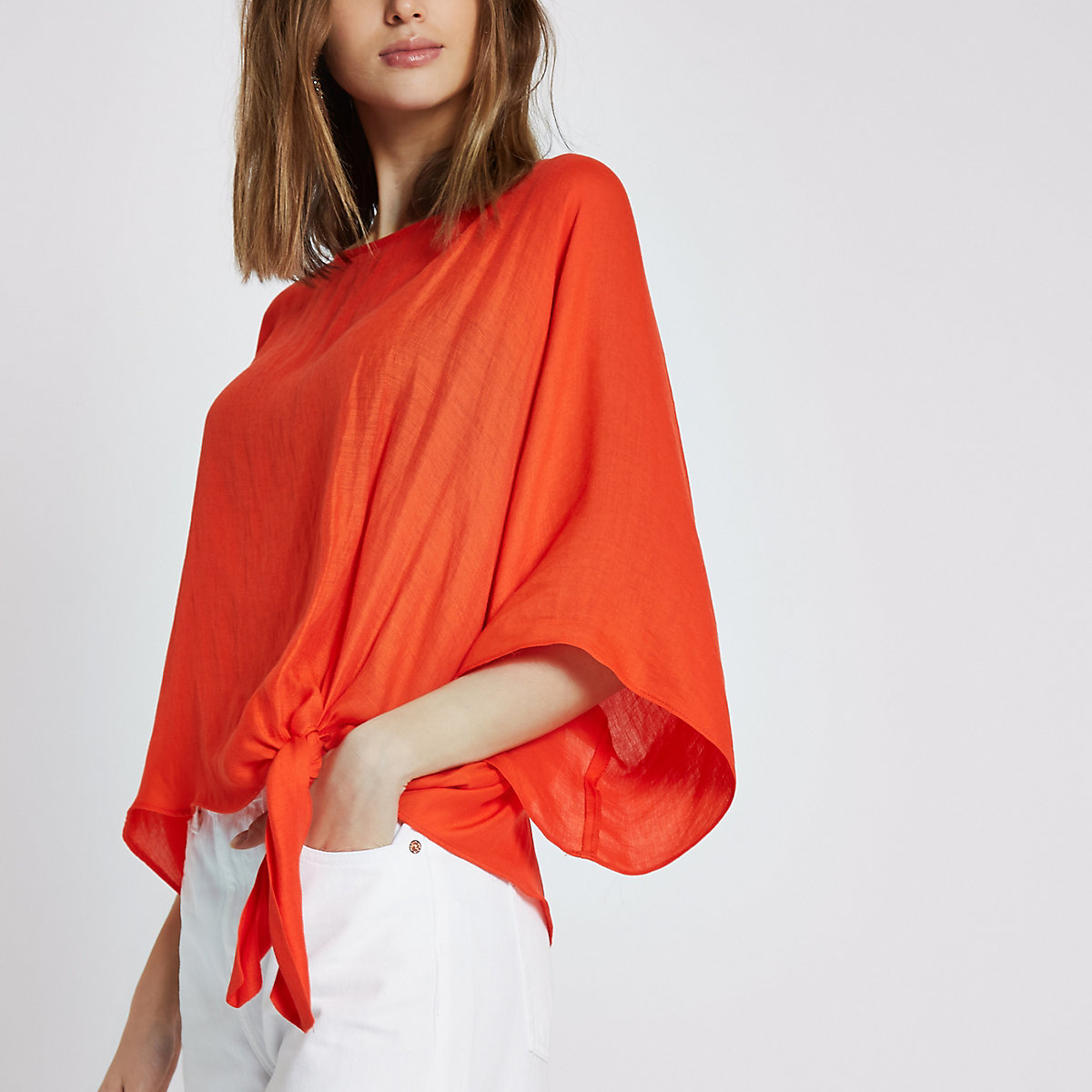 Red knot side T-shirt