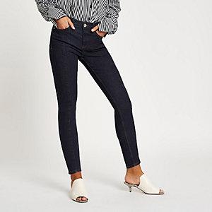 Amelie – Dunkelblaue Superskinny Jeans mit Schlitz
