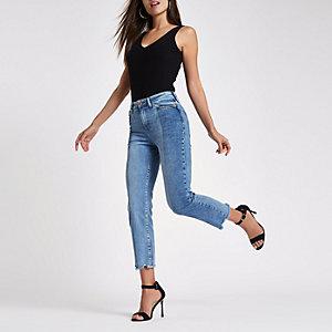 Bella – Mittelblaue Straight Leg Jeans