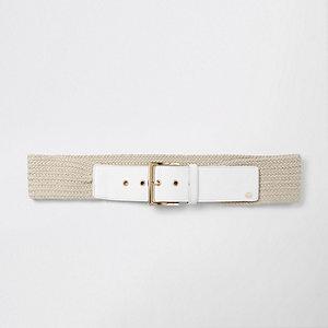Ceinture blanche type corde