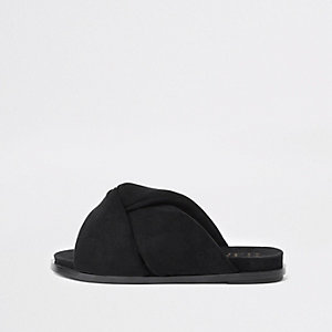 Sandales noires à nœud