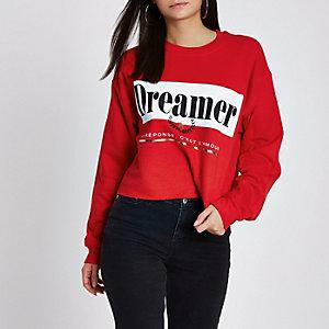 Rood 'dreamer'-sweatshirt