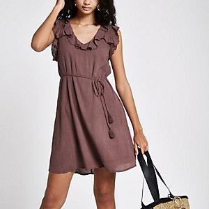 Swing-Kleid in Dunkellila