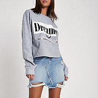 Sweat-shirt gris à imprimé « dreamer »