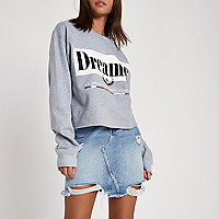 Grijs sweatshirt met 'dreamer'-print