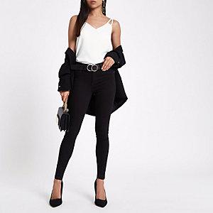 Petite – Molly – Jegging noir à taille standard