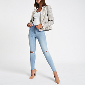 Blue Harper high waisted super skinny jeans