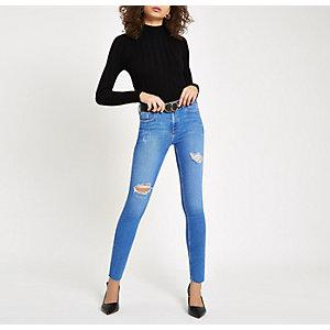 Amelie – Jean super skinny bleu déchiré
