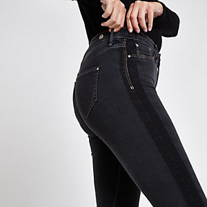Black Molly mid rise shadow panel jegging